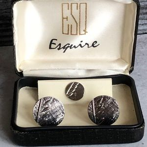 Esquire tie tax and cuff links.